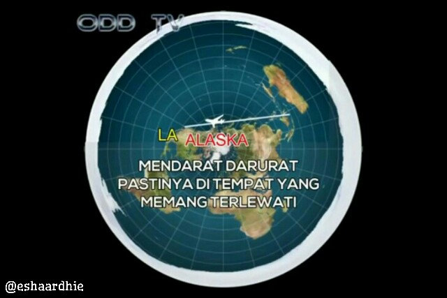Penerbangan Dari Bali Ke Los Angeles Versi Peta Bumi Datar (Mengupas Kebohongan Konspirasi Bumi Datar)