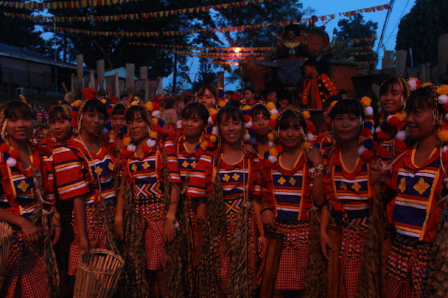 Participants at the Kaamulan Festival