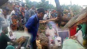 Dua Bangunan Rumah & Dua Pelajar Tertimpa Pohon Besar Akibat Hujan Deras di Sertai Angin Kencang
