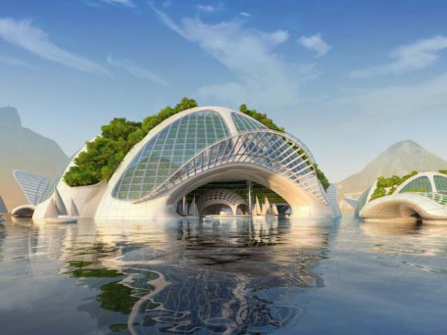 underwater building
