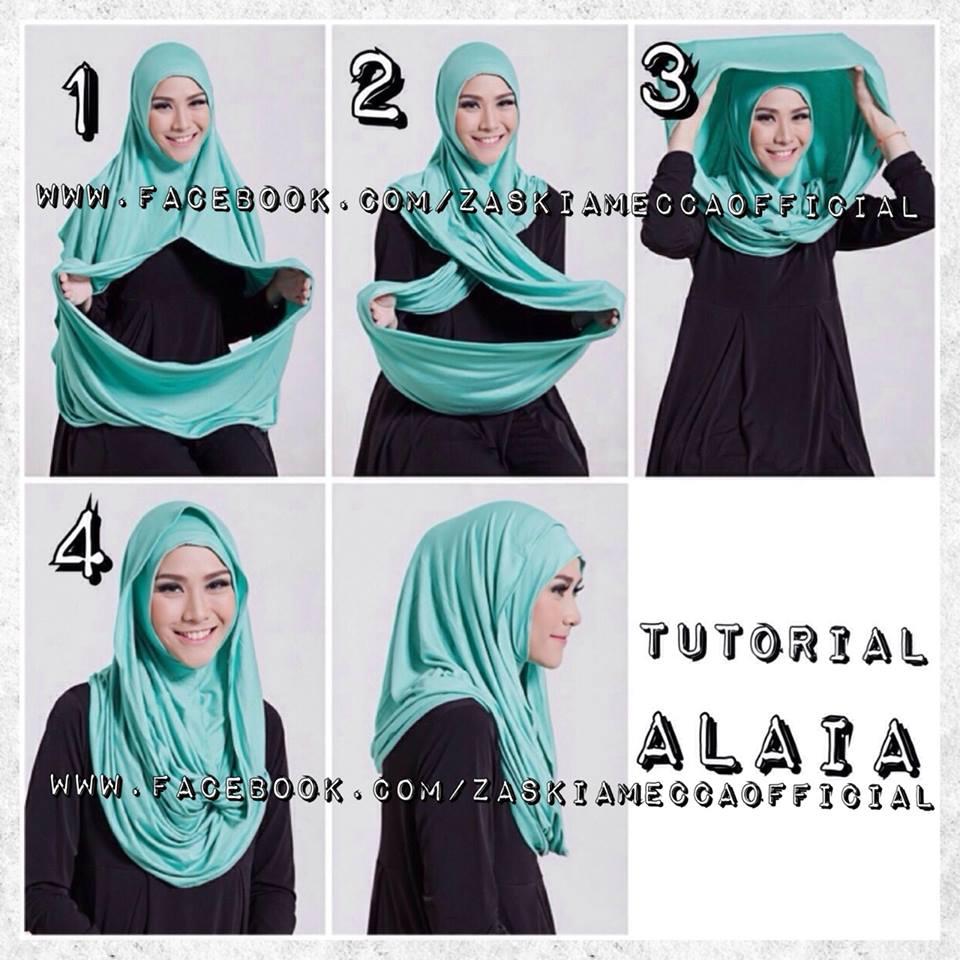 23 Tutorial Hijab Zaskia Adya Mecca Pashmina Segi Empat Instan