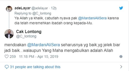 Mardani Ali Sera Nyinyiri Jokowi yang Masuk Ka'bah, Cak Lontong Murka: Mau Sampenyan Itu Apa?!