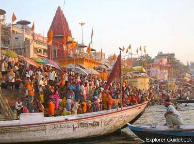 Varanasi (Benares) ghat, India