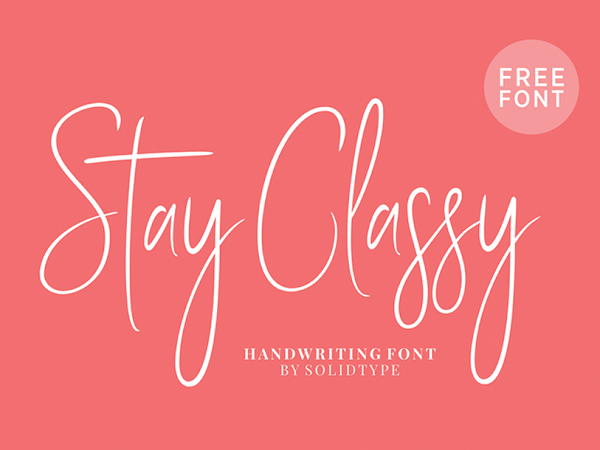 Stay Classy Signature Font Free Download