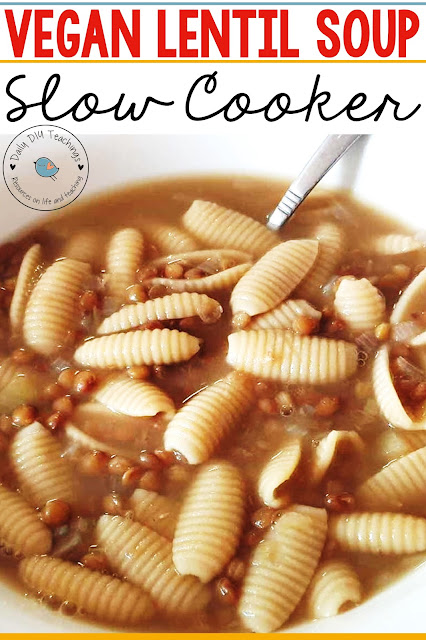 Looking for an easy meal to feed the whole family? Are you also sometimes stumped on what to make for lent or meat-free weekdays? This super easy Vegan Slow Cooker Lentil and Pasta Soup will be a family favourite in no time! Don't be fooled by the simplicity of this dish, it's very much the tastiest soup you could make and in practically no effort.