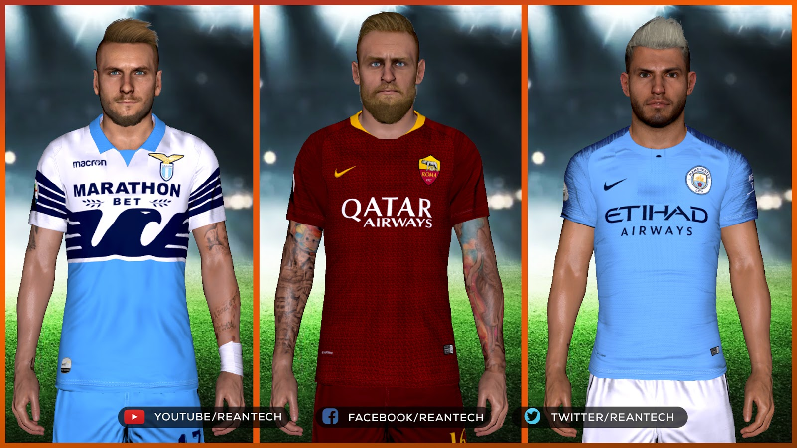 0b8441649 PES 2017 New Face & Tattoo Update For RT Tattoo Repack by Rean Tech ...
