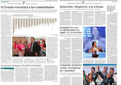 El Estado tiene que acudir en socorro de Cataluña