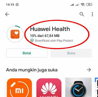 ikon huawei health di play store