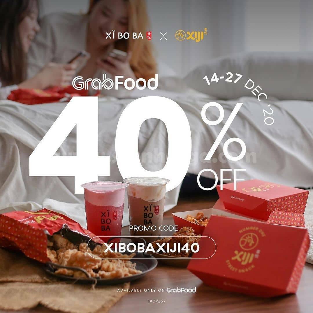 Promo Xiboba X Xiji Diskon 40% khusus pesan via Grabfood