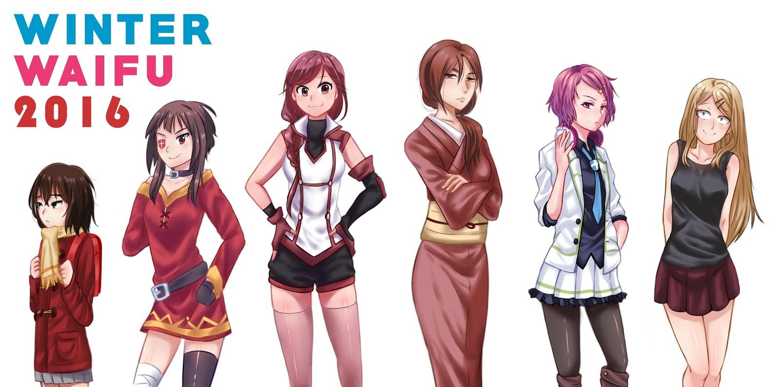 OTAKU CLUB Winter Anime 2016 Best Girls