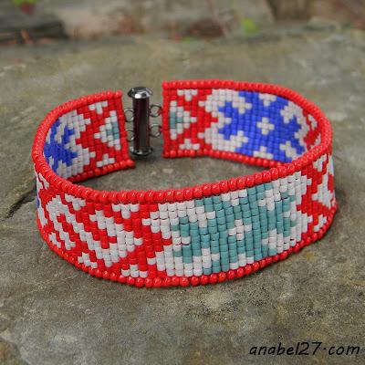 Узкий браслет с традиционным славянским орнаментом