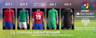CA Osasuna Adidas kit 2016-17 Pes 2013