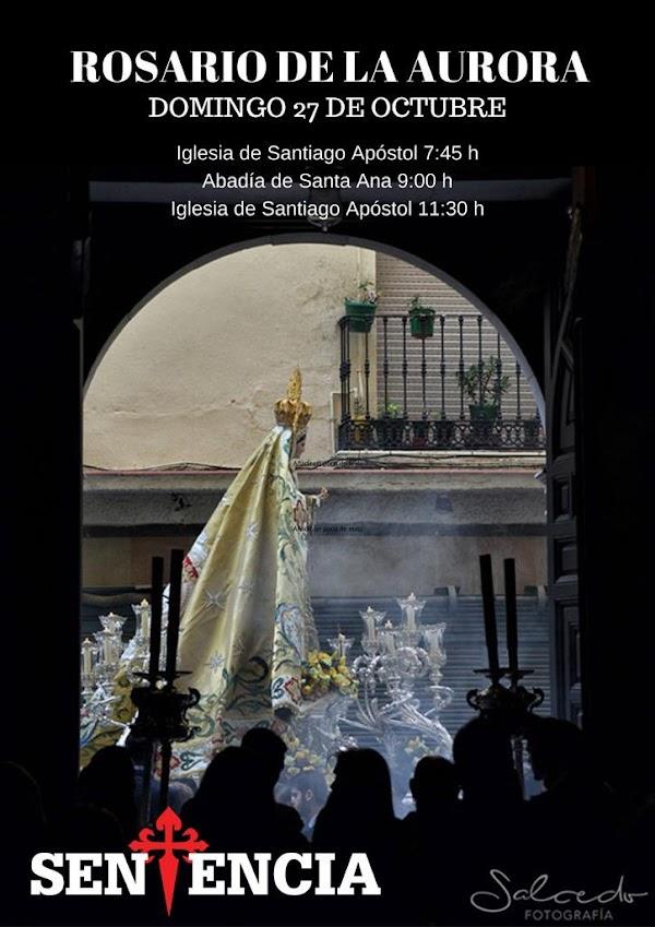 Horario e Itinerario Rosario de la Aurora de María Santísima del Rosario en sus Misterios Dolorosos este Domingo en Málaga