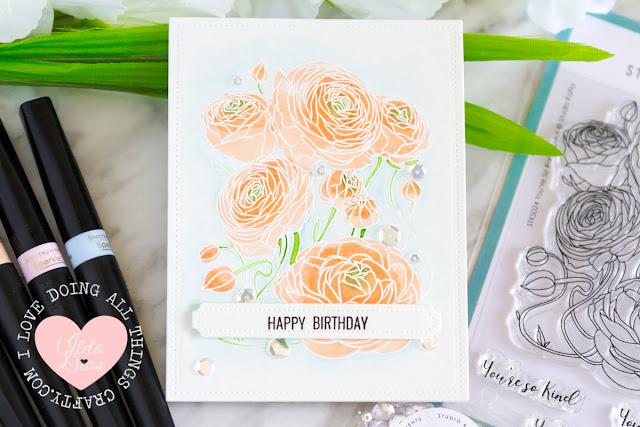 Studio Katia's You're so Ranunculus Birthday Card