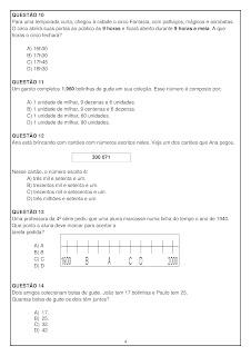avaliação diagnóstica matemática 5o ano