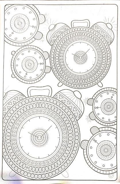 Mandala de relojes para colorear