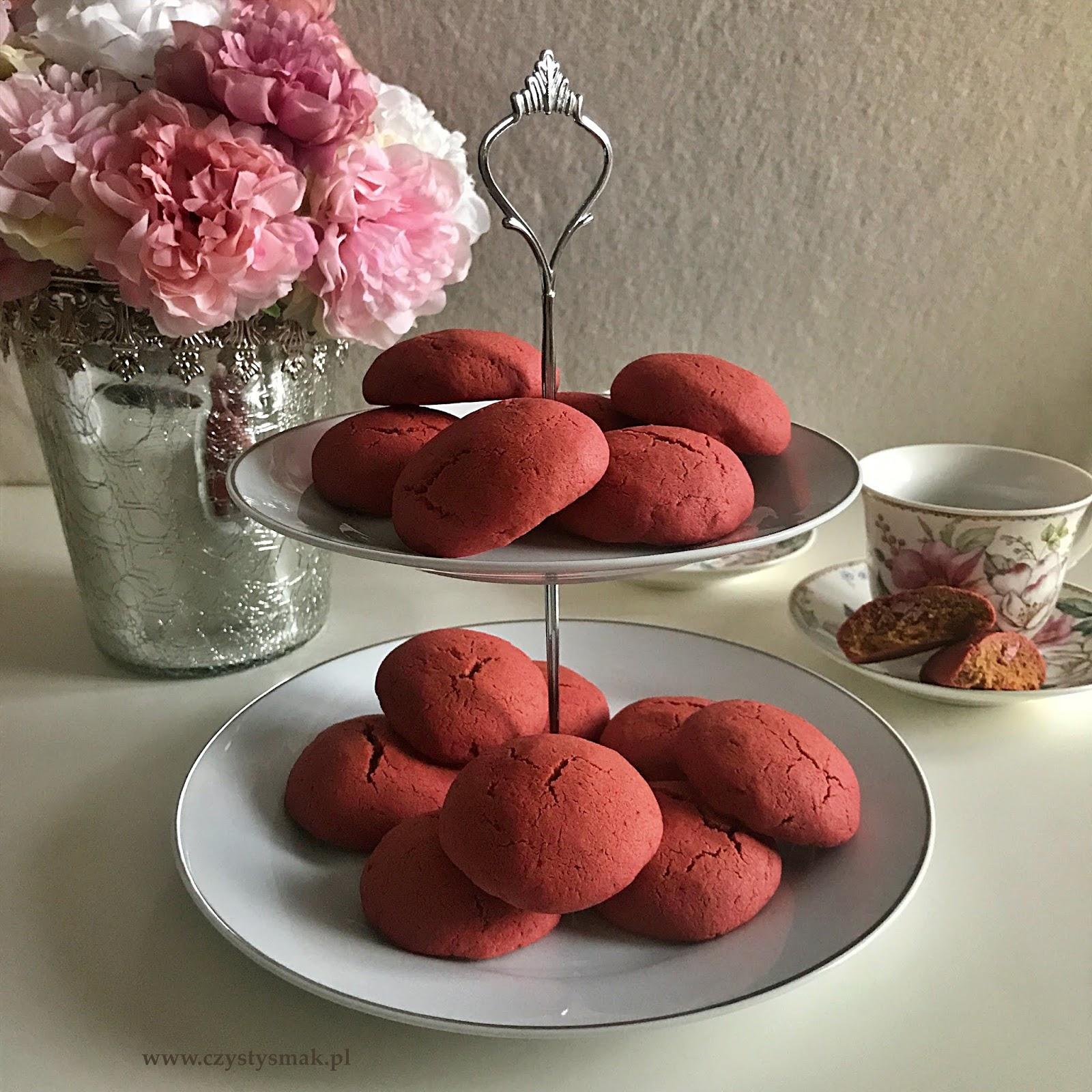 Różowe ciasteczka bez sztucznych barwników