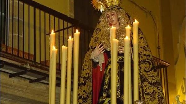 Horario e Itinerario Traslado de REGRESO de la Virgen del Buen Fin a la Basílica del Carmen. Jerez de la Frontera (Cádiz) 09 de Octubre de 2021