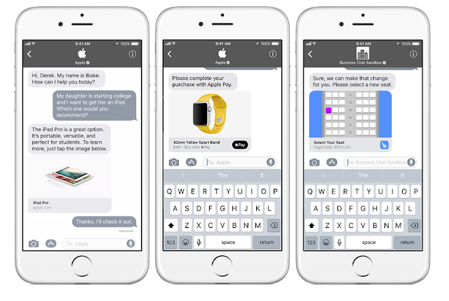 Apple Releases Business Chat on iMessage iOS 11
