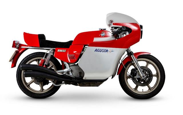 MV Agusta 850SS Monza 1970s Italian classic motorbike