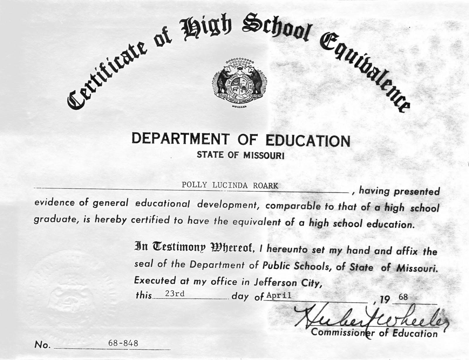 Michigan Ged Certificate Templates