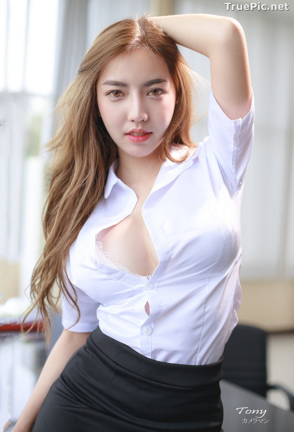 Image Thailand Model - Champ Phawida - Sexy Secretary and Office Uniform - TruePic.net - Picture-8