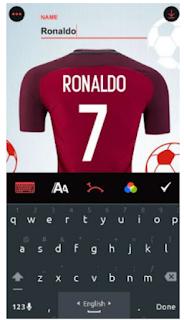 حمل افضل برنامج لكتابة اسمك على قميص فريقك المفضل للاندرويد بدون خبرة في التصميم(أبهر اصدقائك)