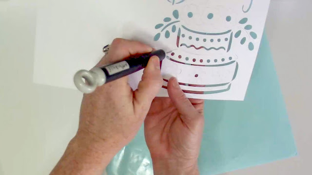paper crafts, card stock, cards, poke tool, cameo 3