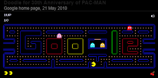 Google Search Game Pac-Man Doodle