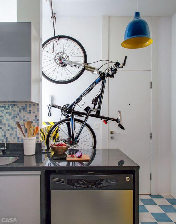 Imagem casa claudia - Gancho bicicleta pared ...