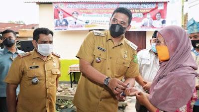 Wali Kota Bobby Apresiasi KSJ Berikan Rumah Baru Kepada Korban Kebakaran
