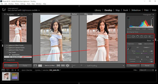 membuat preset lightroom