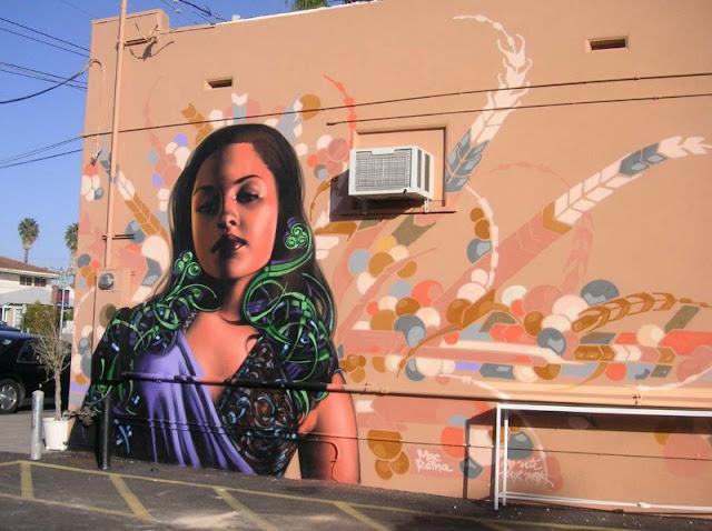 Реалистичные рисунки на стенах. El Mac 28