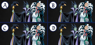 Figure: Can you spot the difference in these evil witches?
