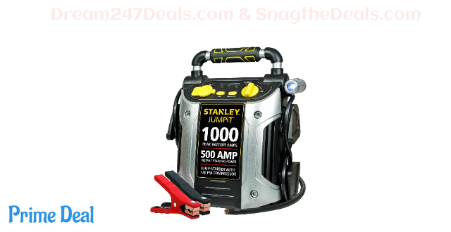 Portable Power Station Jump Starter: 1000 Peak/500 Instant Amps