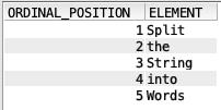 Split string in SQL - IBM i