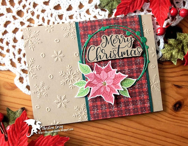 Sunny Studio Stamps: Petite Poinsettia Customer Card by Christine Dring