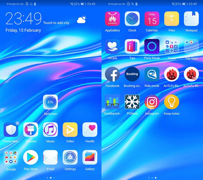 Y7 Pro 2019 UI