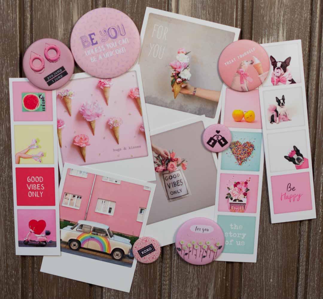 Rusetin magneetit, kortit ja kirjanmerkit