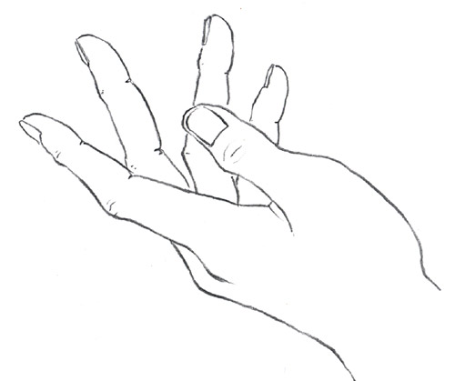 Line Art Hands : An artist s life for me step by how to draw hands