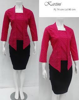 Baju Blouse Batik Kartini Pink