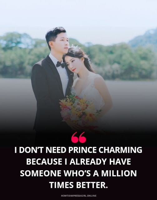 I don't need prince charming love him