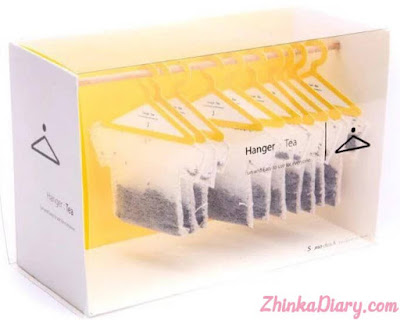 Contoh packaging: Kemasan berbentuk gantungan pakaian