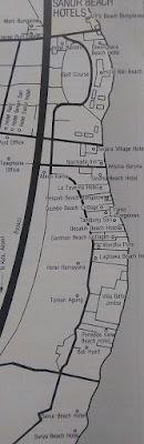 Sanur Beach, Hotel Maps
