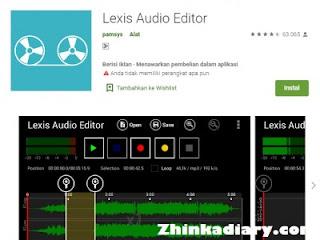 Aplikasi perekam suara Android Lexis Audio Editor
