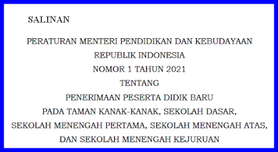 Juknis PPDB Tahun Pelajaran 2021-2022