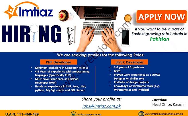 Imtiaz Super Market Latest  Jobs September 2021