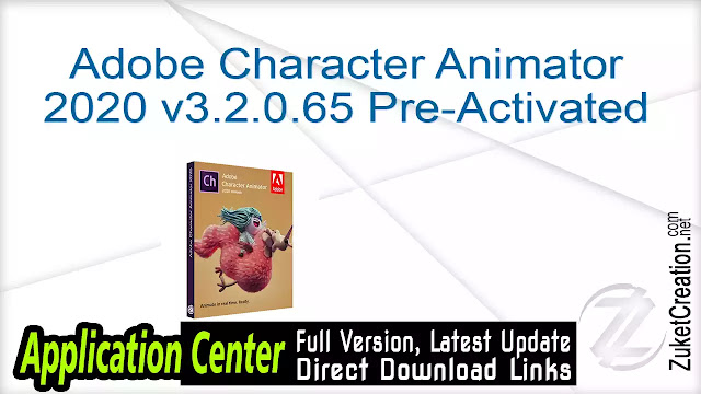 Adobe Character Animator 2020 v3.2.0.65 Pre-Activated