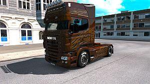 Black Amber skin for Scania RJL