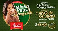 Promoção Minha Pausa Perfeita Café Melitta promocaominhapausaperfeita.com.br